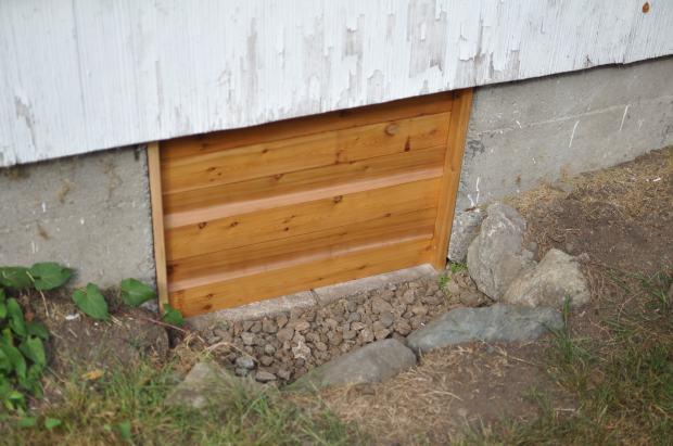 Irvin s amazing crawl space door thrill of living for Crawl space foundation design